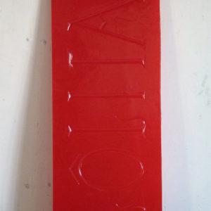 """Yves Schemoul, LÔLITA, 2013, tirage sur papier albuminé d'après négatif sur verre au collodion, résine époxy teintée dans la masse, vue de l'exposition """"Jo le rouge (Camera calda)"""", La Non-Maison, Aix-en-Provence, 2013 © The Artist"""